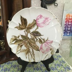 VTG 1888 Hand Painted Porcelain Decorative Plate